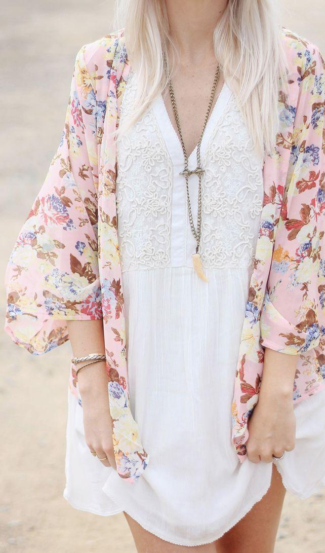 cute kimono cardigan and dress
