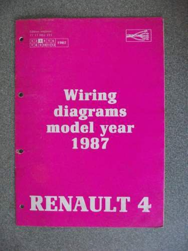 renault 4 wiring diagrams manual 1987 7711082191 nt8034 listing in the  renault,car manuals & literature,cars & trucks parts & accessories,cars &  vehicles
