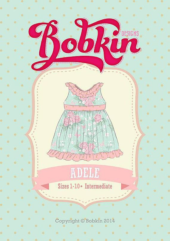 813a430977283 Adele Dress PDF Sewing Pattern: Sizes 1 to 10 by BobkinDesigns. Thinking I  need this pattern. Hey, I found this really awesome Etsy listing at  https://www.
