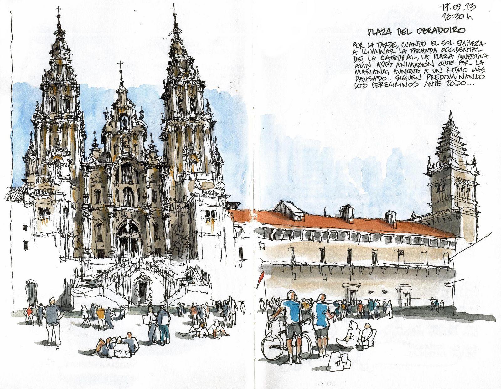 Santiago De Compostela Urban Sketching Urban Sketchers Cathedral