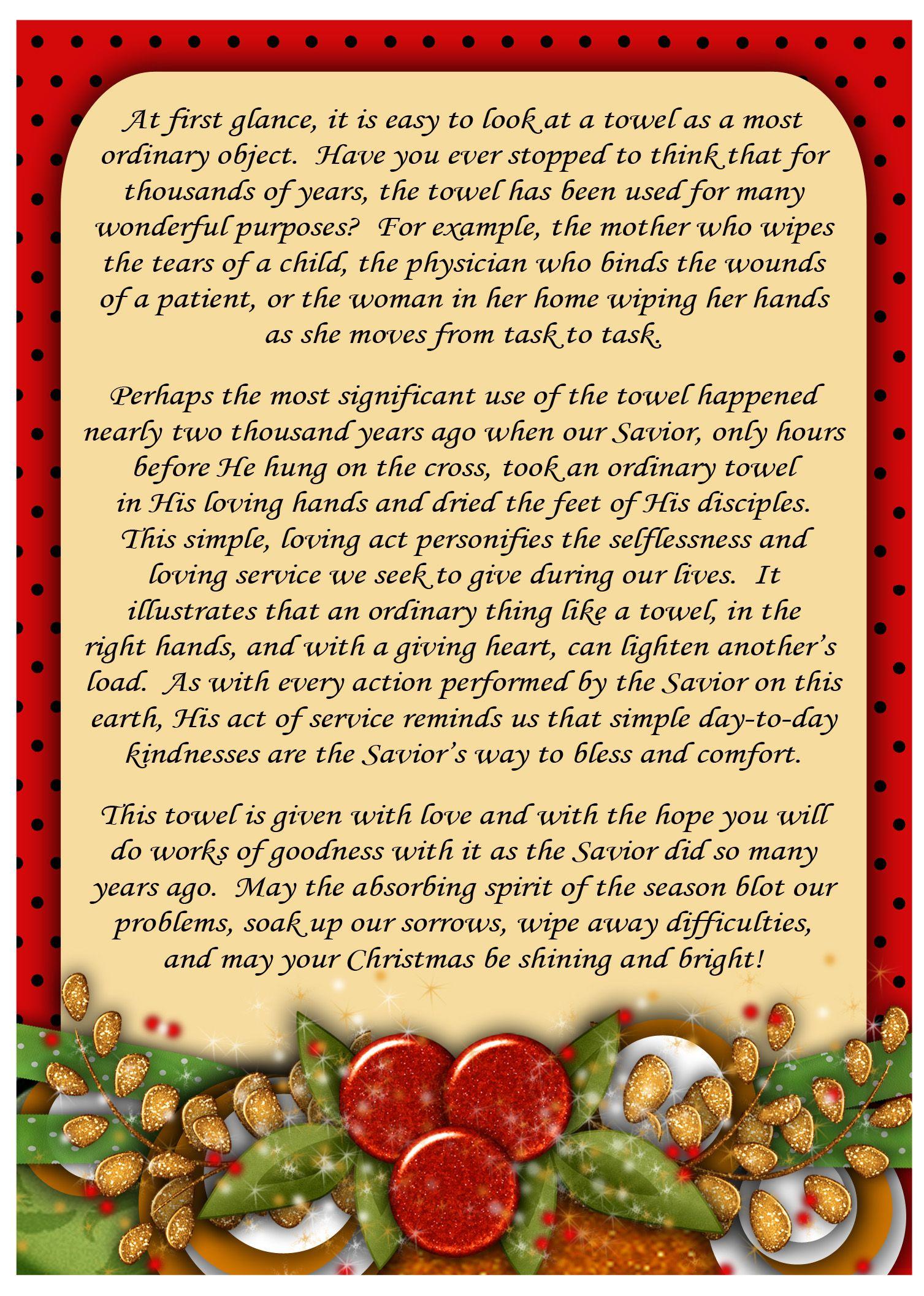 Toalla de navidad poema navidad navidad regalos de - Regalos navidad padres ...