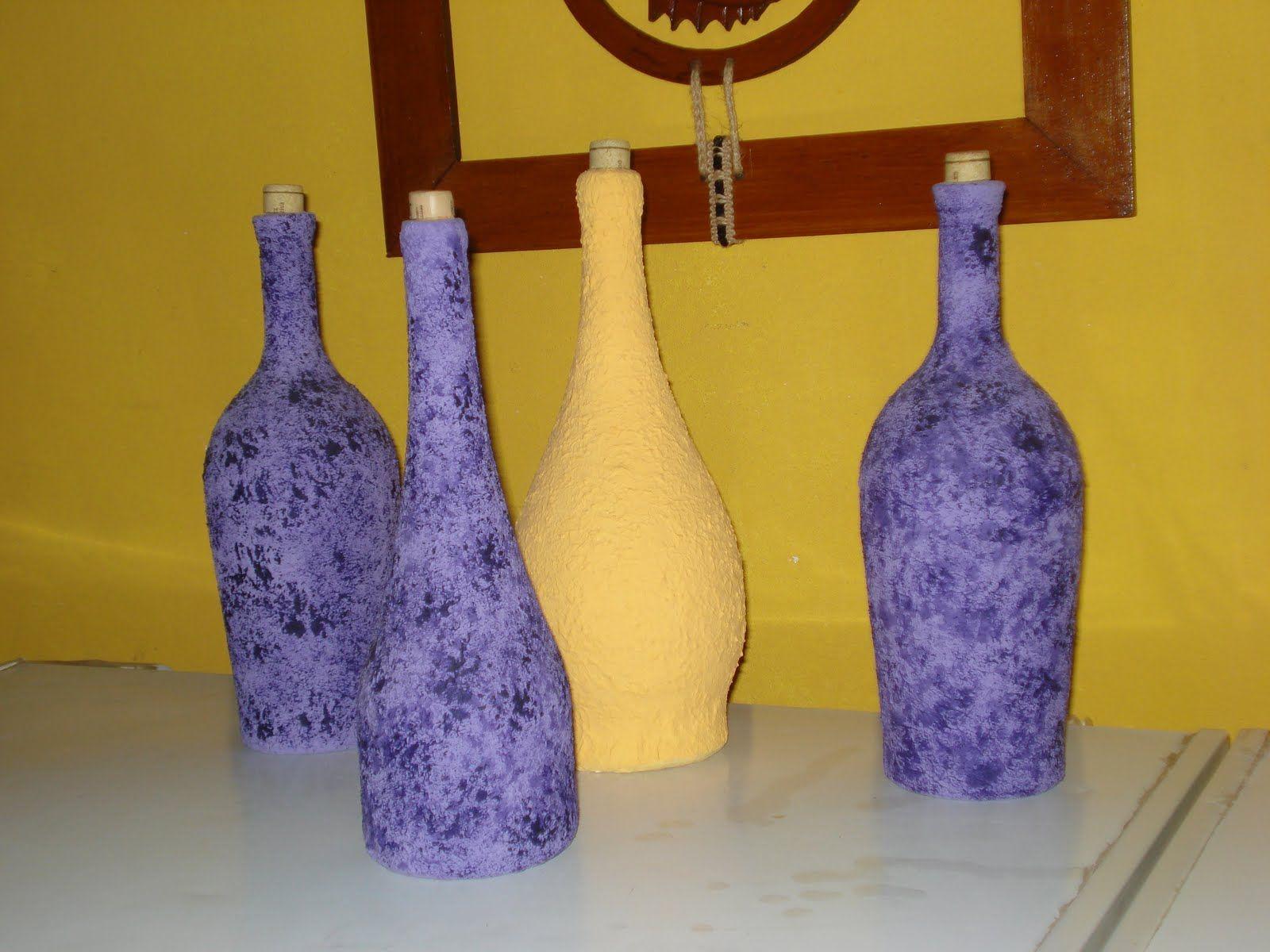 botellas de vidrio decoradas Buscar con Google
