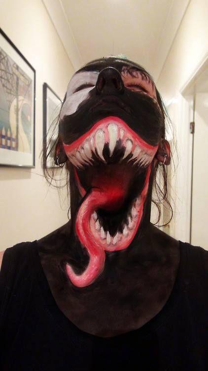 maquillage halloween venom