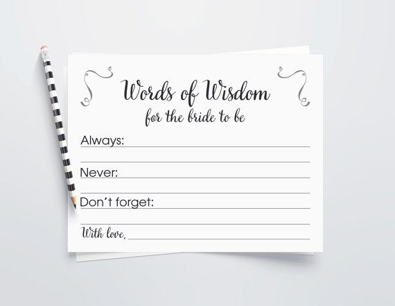 words of wisdom bride cards words of wisdom by orchardberry