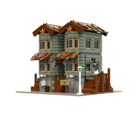Becke1995 built Anton's General Store using 1862 pieces. The model is heavily inspired from the recently released Old Fishing Store, but stands as a great model on its own.