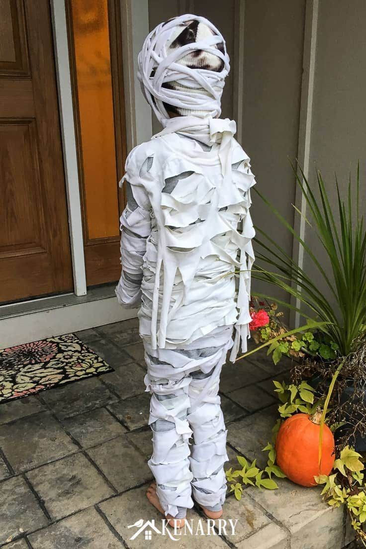 Mummy Costume for Kids Easy DIY Halloween Costume Diy