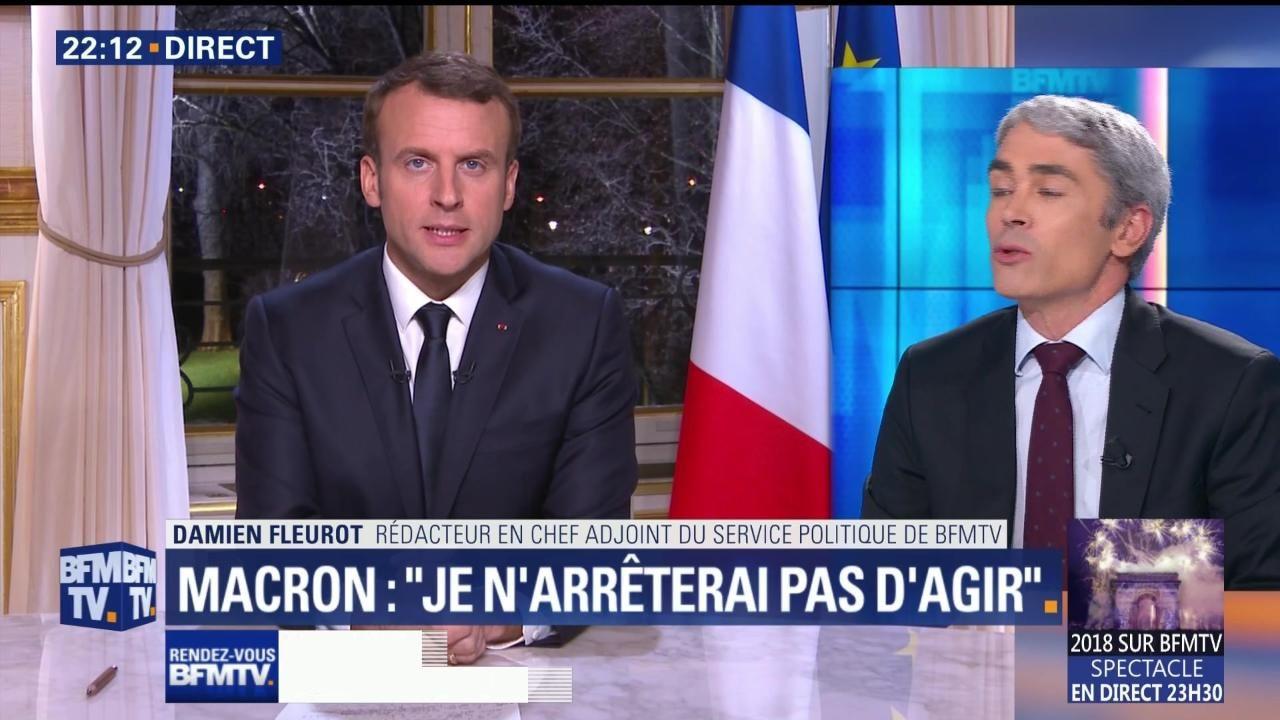 """Vœux présidentiels Emmanuel Macron annonce """"un grand"""