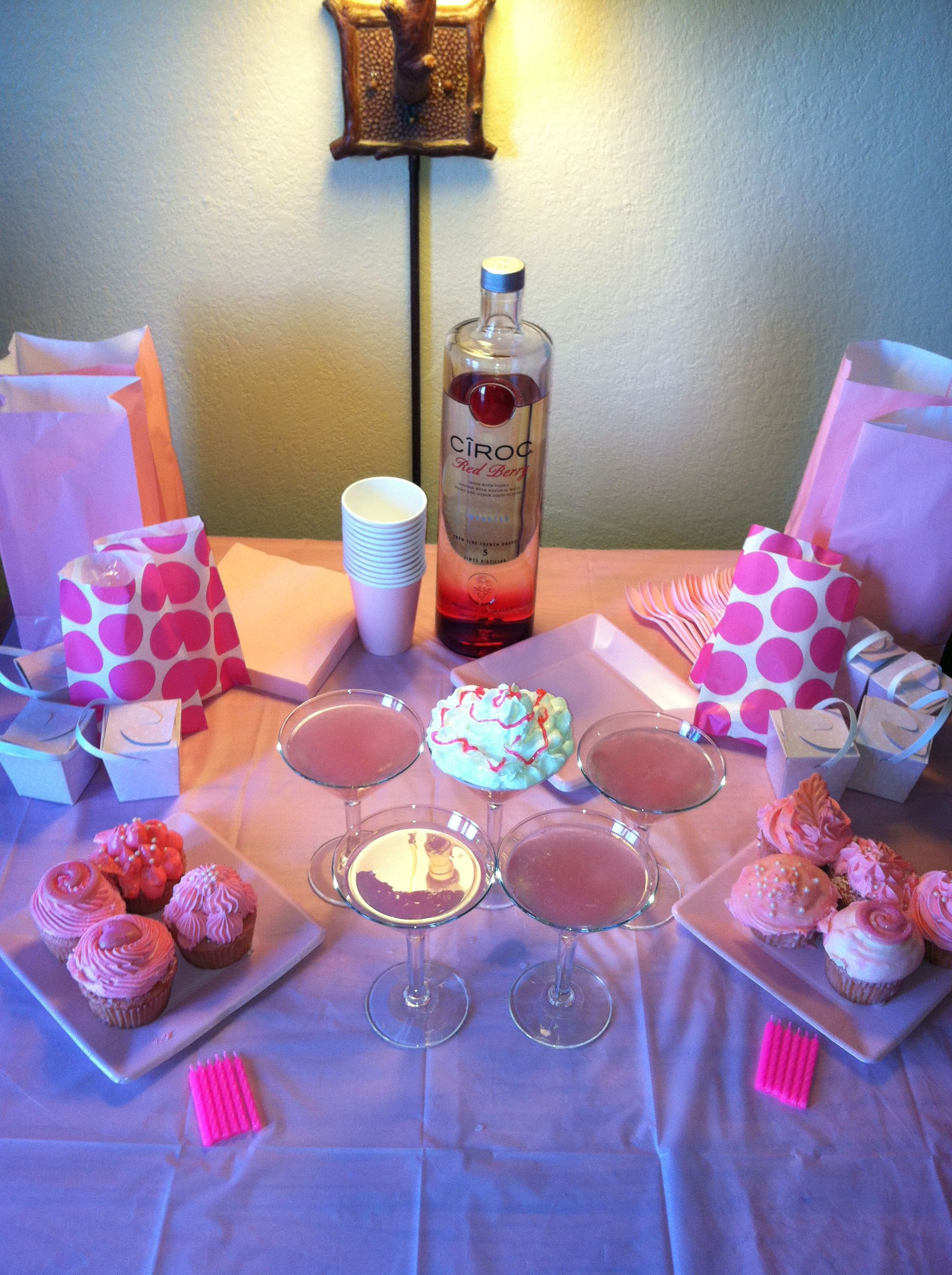 My decor for my Pink Party