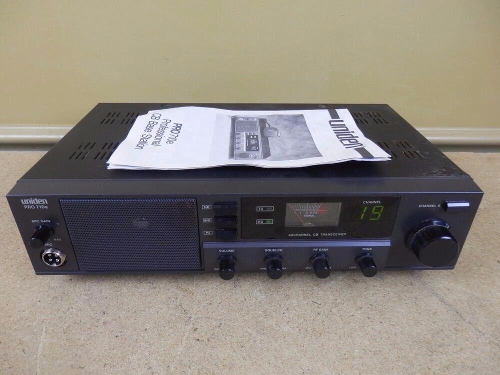 Uniden Pro 710e Professinal Am Cb Radio Base Station W Manual Rare Cb Radio Station Radio