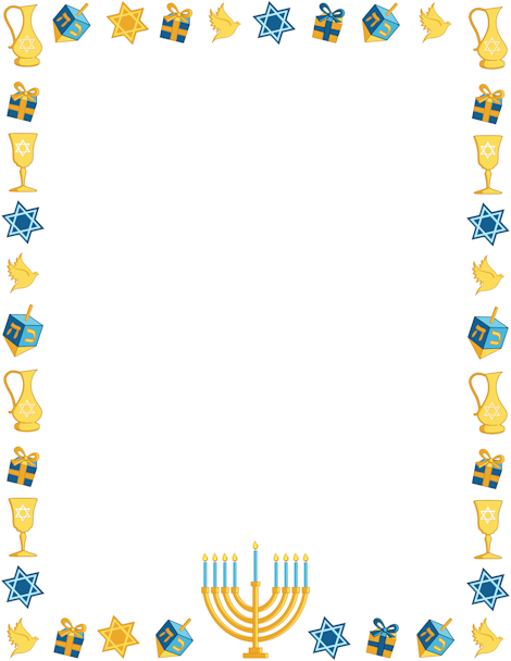 Printable Hanukkah border. Free GIF, JPG, PDF, and PNG downloads at ...