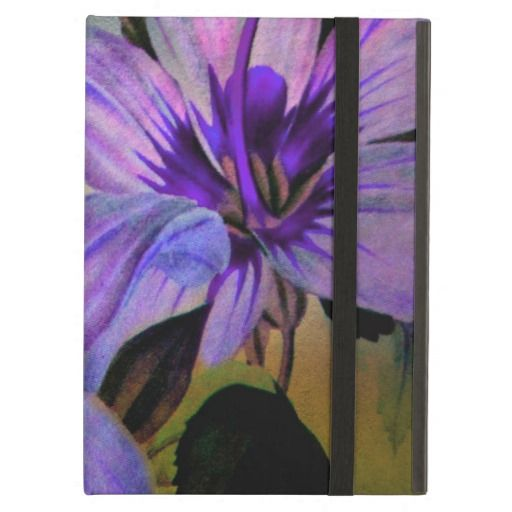 Vintage Painted Lavender Lily iPad Powiscase iPad Air Cases