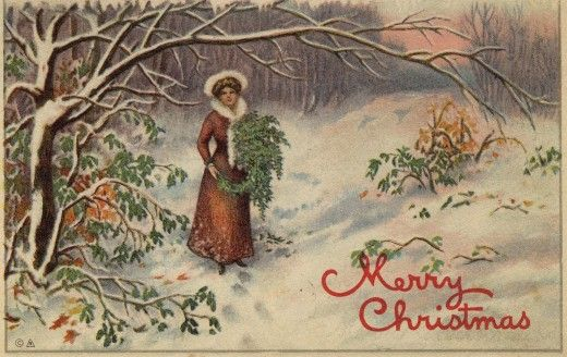 Vintage, Victorian Christmas Wallpapers