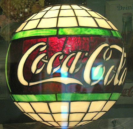 A beautiful antique Coca-Cola lamp from the 1900′s.