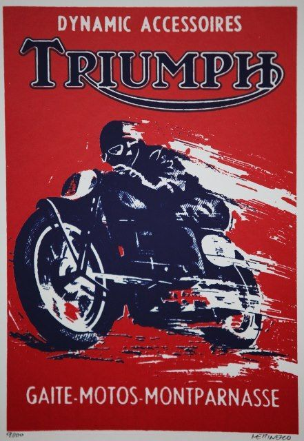 Triumph Motorcycle Posters Vintage Motorcycle Posters Triumph Bikes