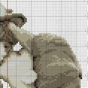 Схема вышивки Поцелуй (Vervaco) 2 ИЗ 4