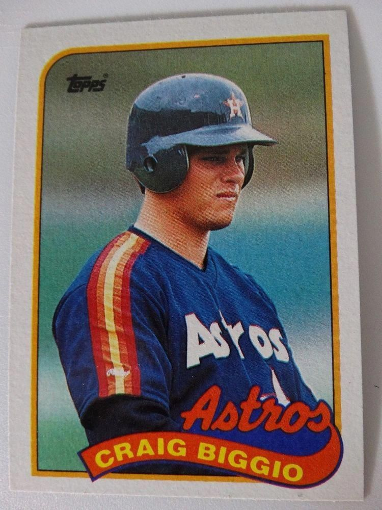 Details About 1989 Topps Craig Biggio Houston Astros Wrong Back