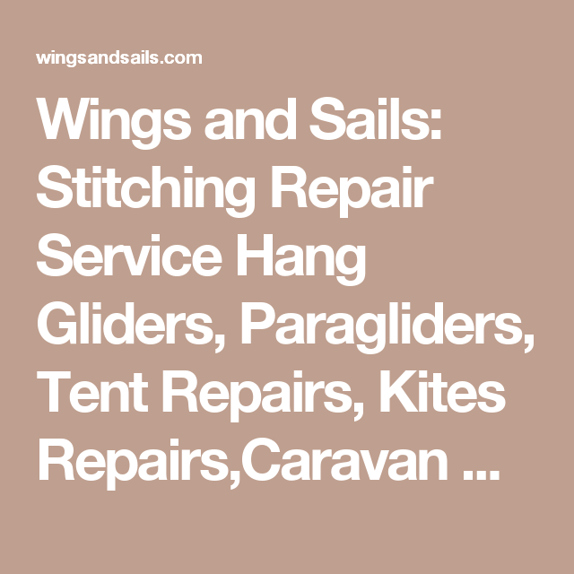 wings and sails stitching repair service hang gliders