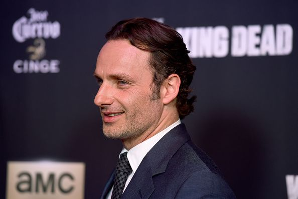 Actor Andrew Lincoln attends the season 5 premiere of 'The Walking Dead' at AMC Universal City Walk on October 2, 2014 in Universal City, California.  (Photo by Frazer Harrison/Getty Images)