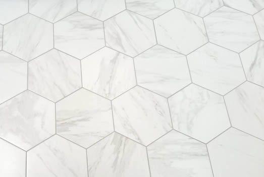 Hexagonal Marble Carrara Look Porcelain Floor Tile Sydney