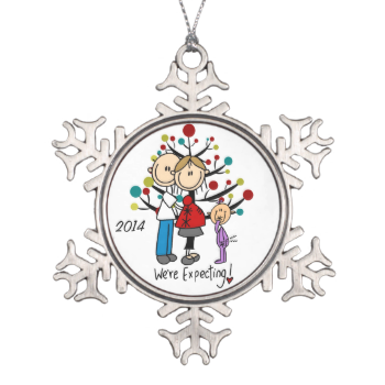 Expectant Couple With Girl Snowflake Ornament Zazzle Com Christmas Ornaments First Christmas Together Ornament Personalised Christmas Tree Decorations