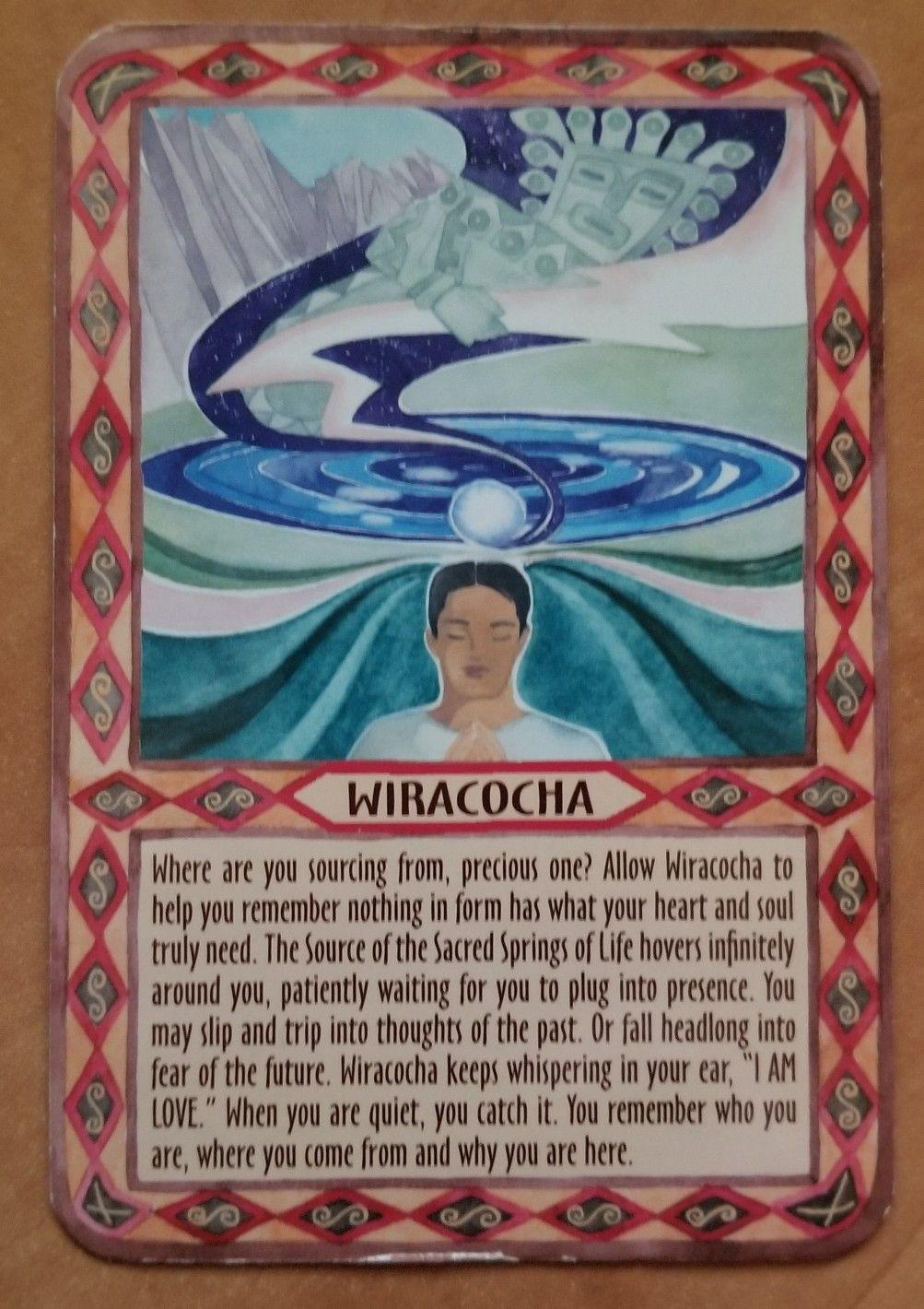 Wiracocha in 2020 Energy healing, Sacred, Heart soul