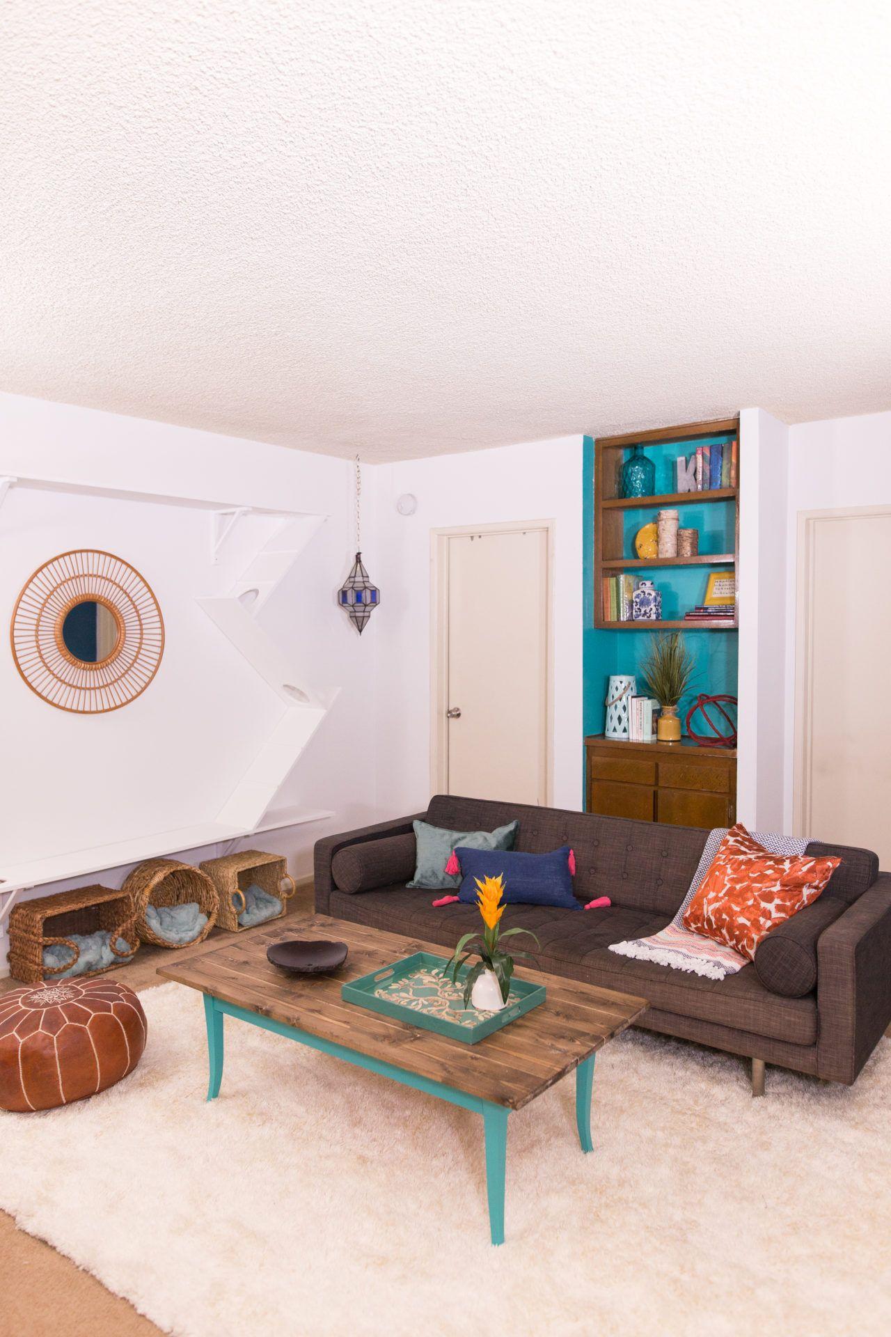 Bohemian Cat Friendly Living Room Makeover Living Room Make