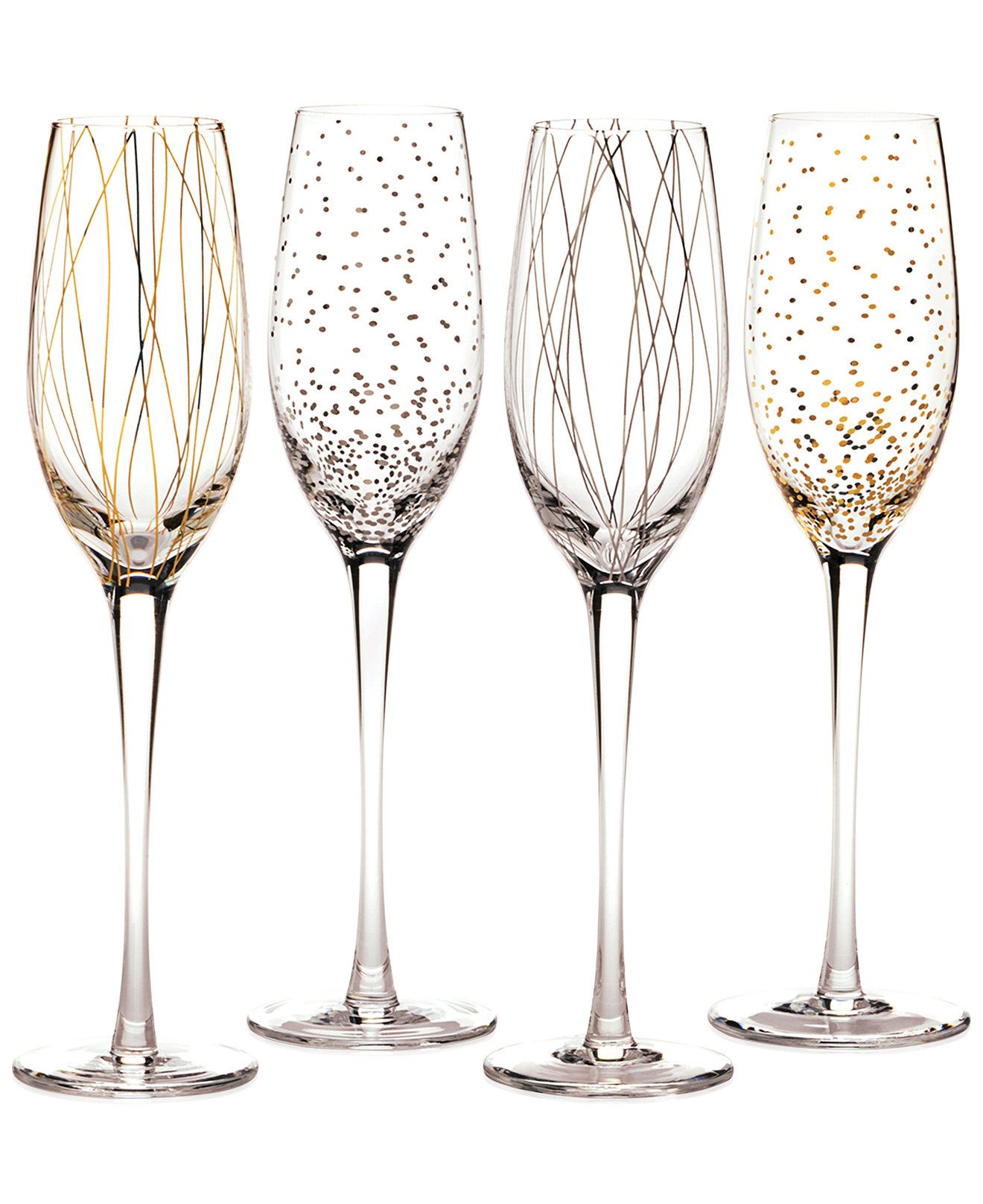 Moderne Weingläser Cheers Party Flutes, Set Of 4 - A Macy's Exclusive