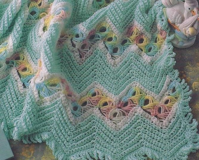 Broomstick Lace Afghan Pattern Broomstick Ripple Lace Baby Afghan