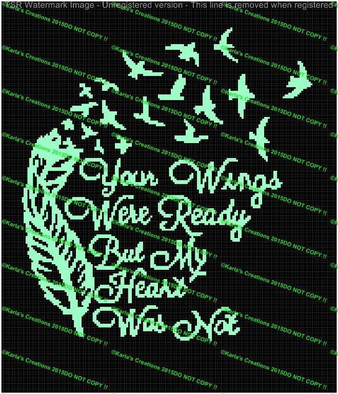 Looking for your next project? You're going to love Your Wings Ready Heart Was Not  Graph by designer Karla59.