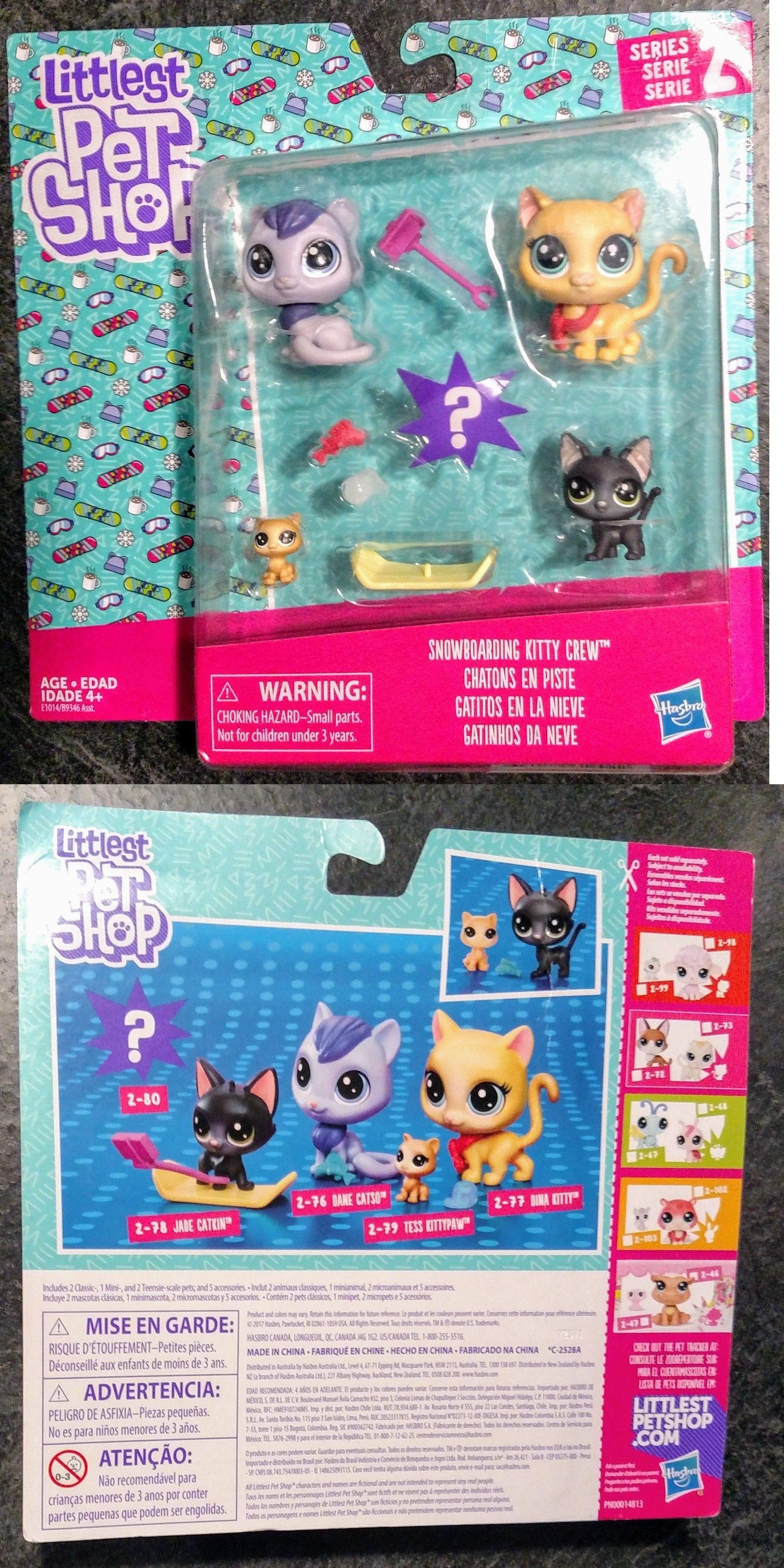5 Kitties 2018 Snowboarding Kitty Cat Crew Littlest Pet Shop Family Lps Little Pet Shop Lps Toys Lps Littlest Pet Shop