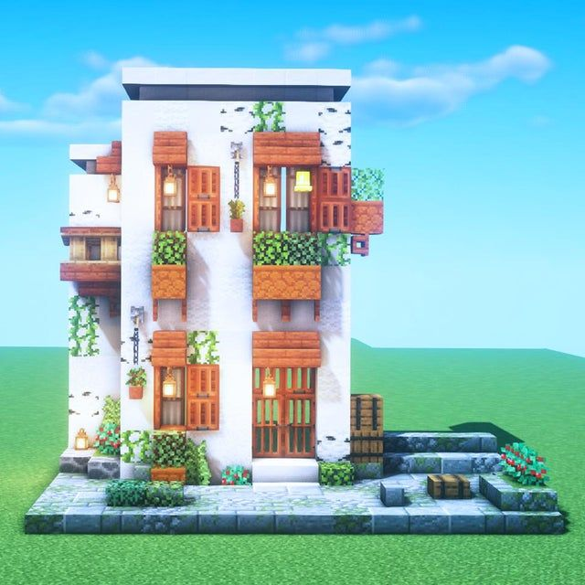 We are currently building a Mediterranean style house We will build another building in the back on the right side and connect it with the corridor on the second floor to finish the rooftop and interior I will make it aiming for an atmosphere like the back alley