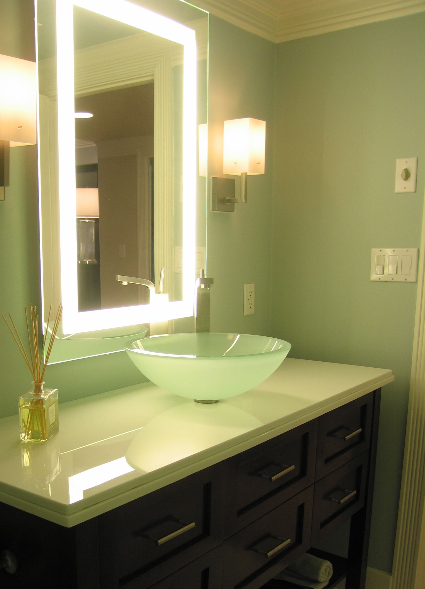 Benefits of Remodeling Bathrooms | Soothing colors, Glass vessel ...