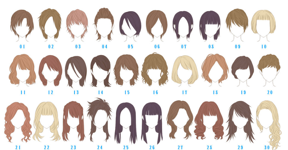 Hairstyles Collection 画像あり かわいいスケッチ イラスト 髪型