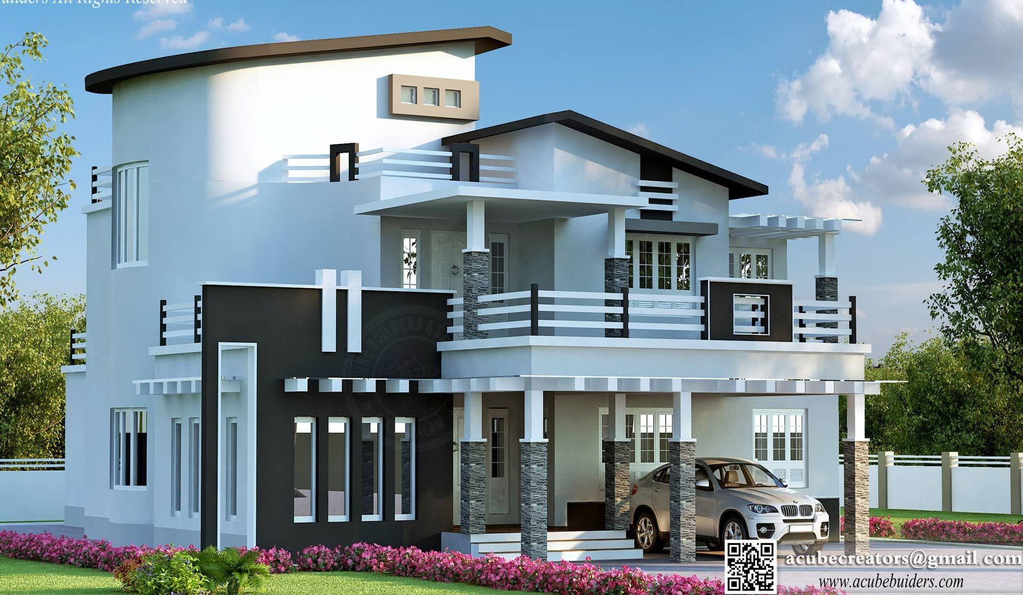 Kerala Home Design And Floor Plans: Modern House Designs | Villas |  Pinterest | Modern House Design, Modern And House