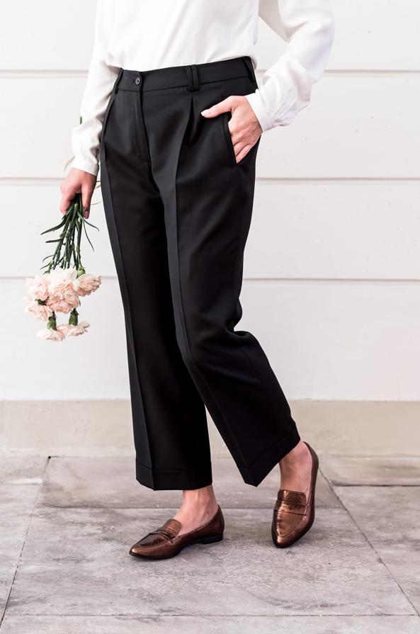 Miedziane Mokasyny Preppy Gold Pantsuit Fashion Suits