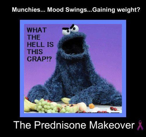 Prednisone - The only thing that can make the Cookie Monster angry!