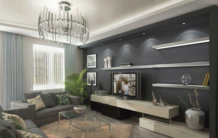 Wohnzimmer in Grau - Raumdesign, das Sie inspiriert - raumdesign wohnzimmer modern