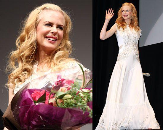 Nicole Kidman Balenciaga Wedding Dresses: Nicole Kidman's Golden Compass All In White