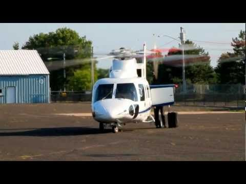 Sikorsky S-76 (N7667S) Lands and Departs Robertson Field