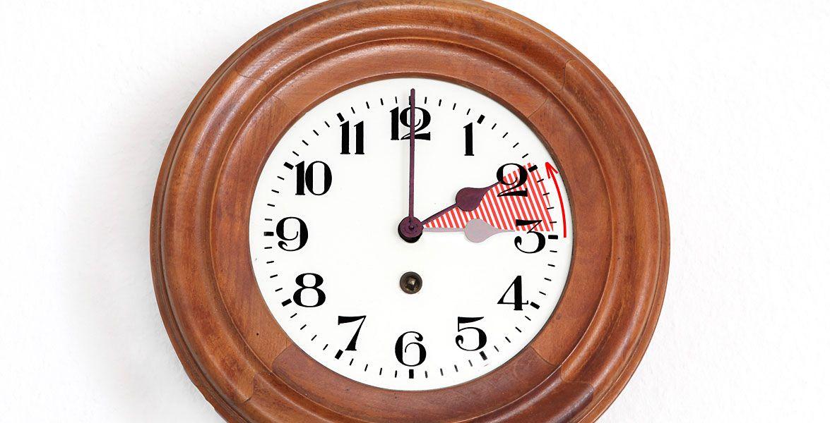 Uhr Zurückstellen