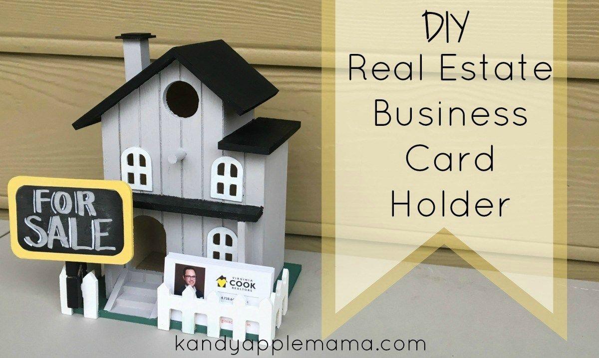 Business card holder ideas ~ DIY Business Card holder for realtors