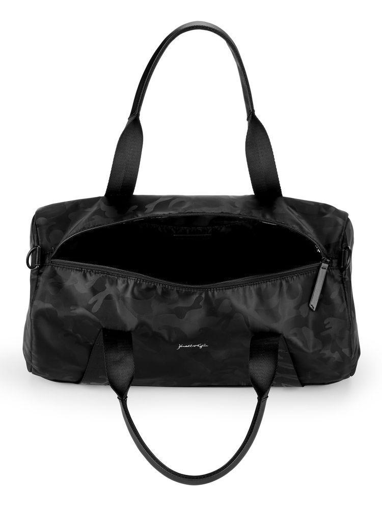06823b05377 Kendall Kylie Duffle Bag Black Camo Bag Adjustable Removable Shoulder Strap   KendallKylie  DuffleGymBag