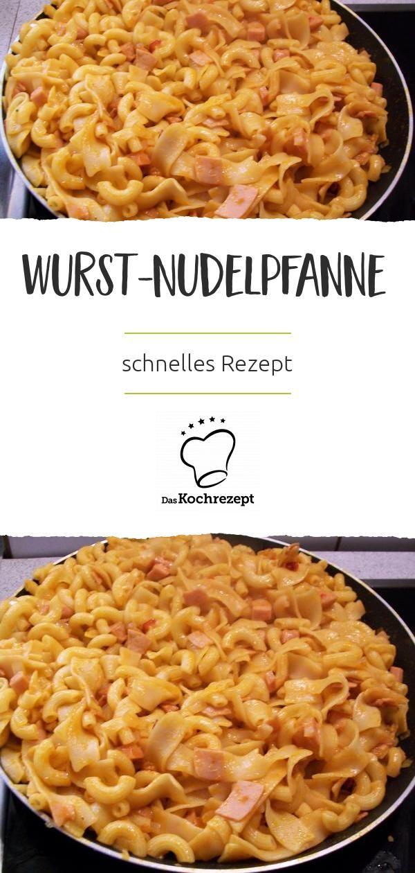 Schnelle Wurst-Nudelpfanne