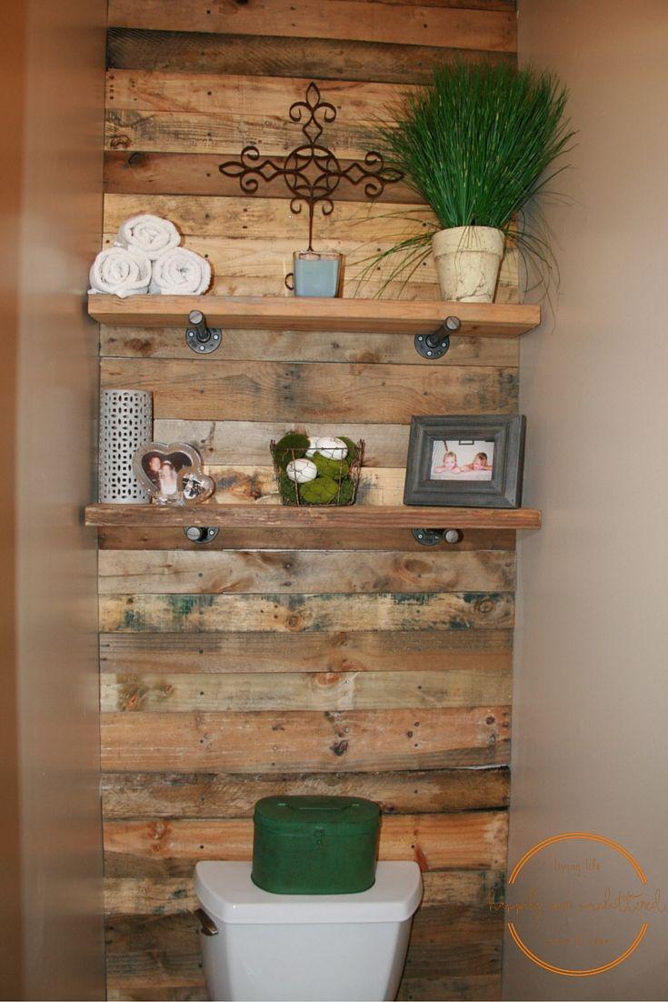 Creating simple diy shelves pallet bathroom pallet wall