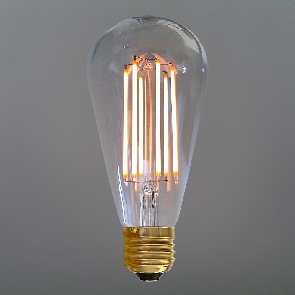 Teardrop st64 william and watson vintage edison bulb industrial light - 6 Watt Edison Dimmable Long Filament Led Bulb E27 2200k