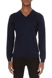 9bf68415 HUGO BOSS Merino v-neck jumper, £119, Selfridges | Men's Fashion ...