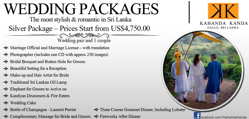 KK Silver Wedding Packages Overseas Weddings Are Becoming More And Popular Sri Lanka Is One Of The Worlds Top Three Destinations Where People Choose