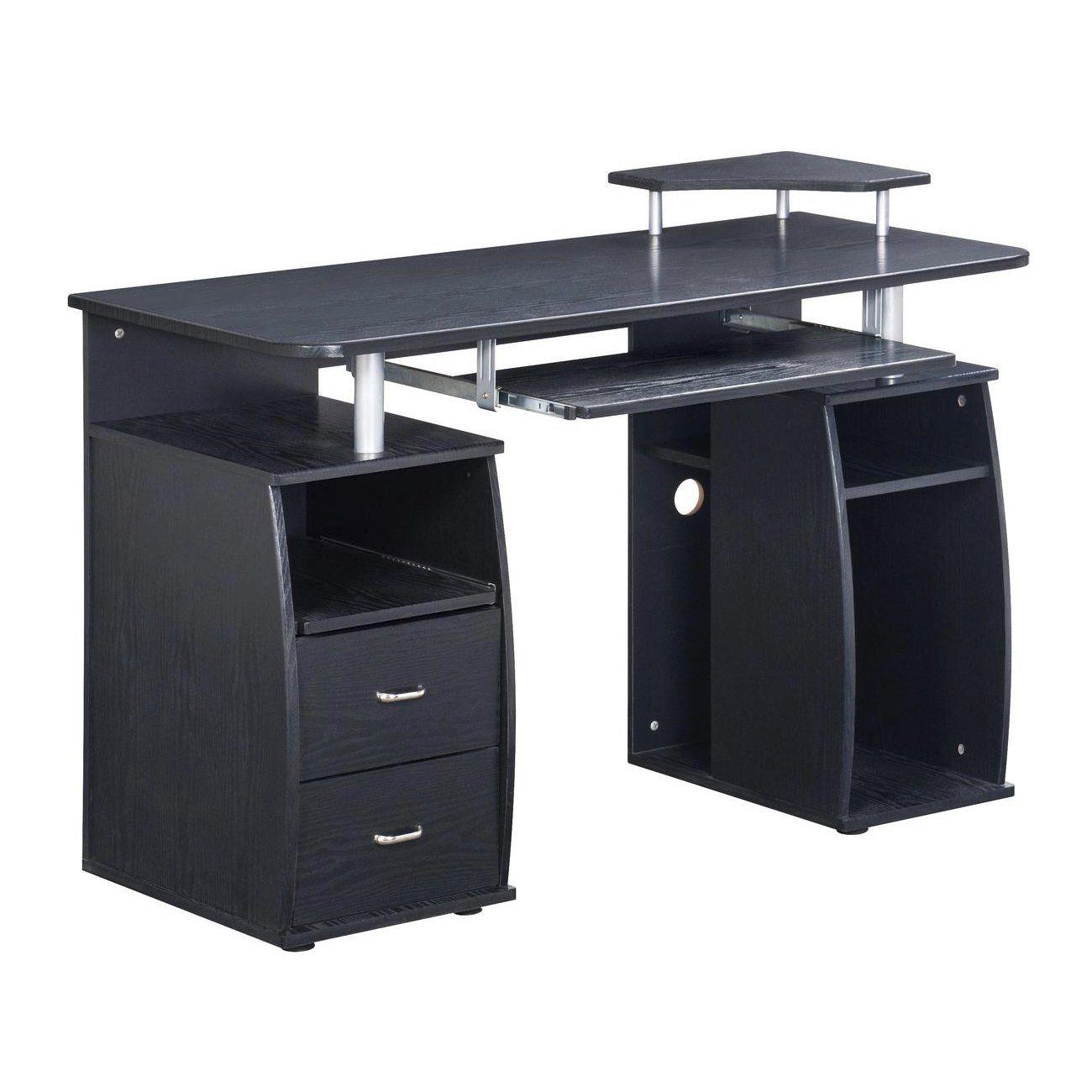 TECHNI MOBILI Complete Computer Workstation Desk With Storage - Espresso