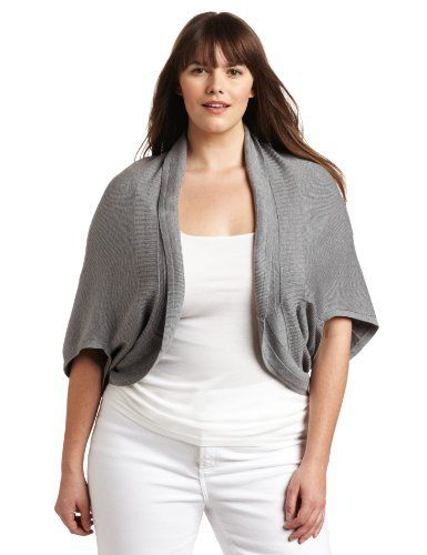 75fbcb1232635 Ak Anne Klein Women s Plus-Size Cocoon Open Shrug Sweater