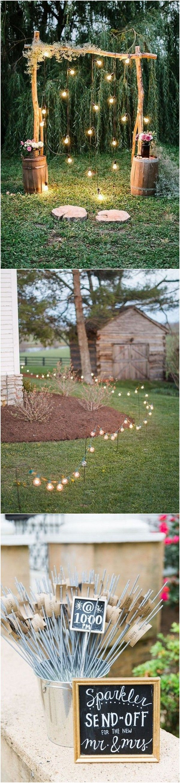 15 Creative Backyard Wedding Ideas On a Budget | Quirky ...